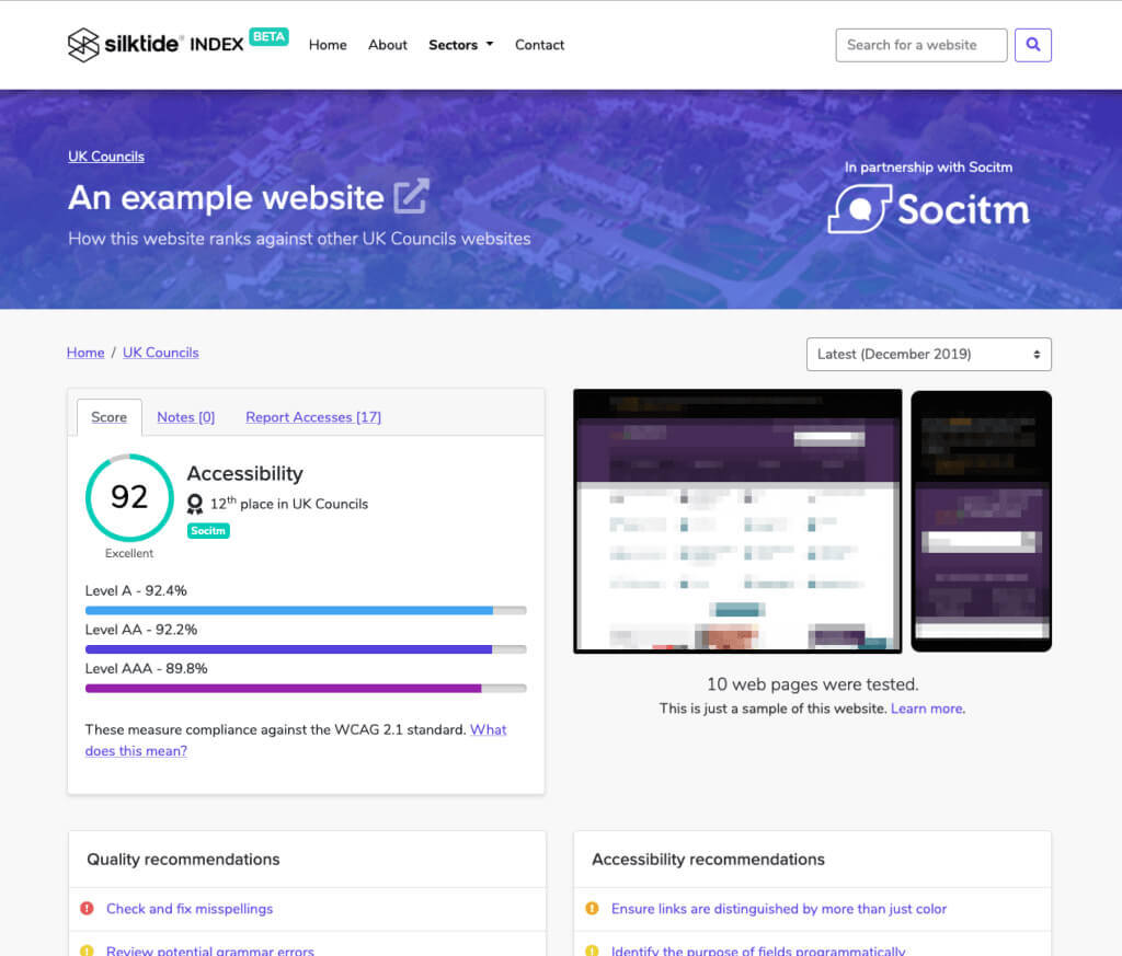 Silktide Index