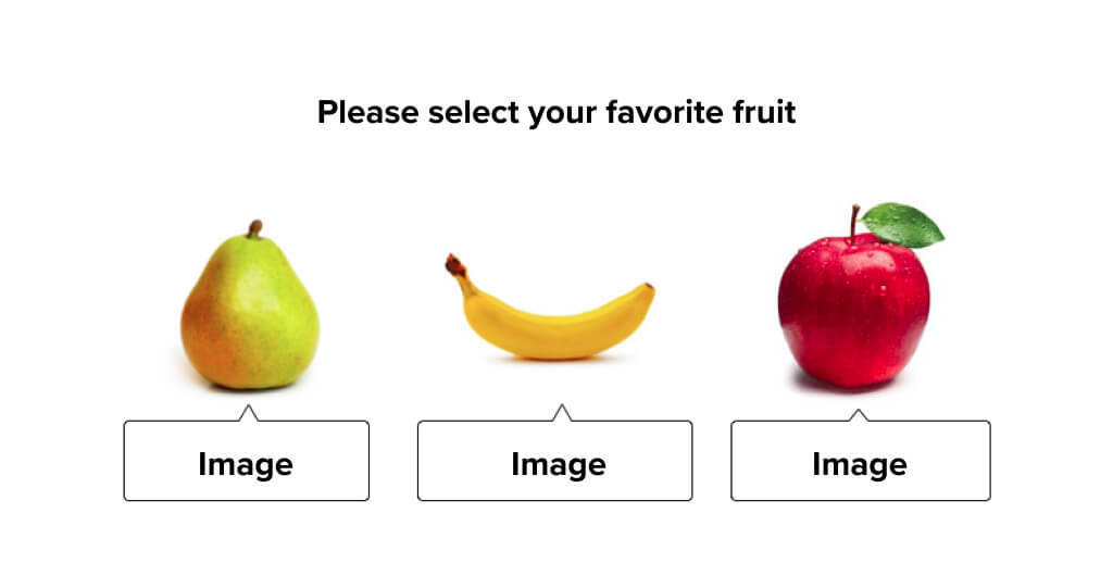 Three different pieces of fruit